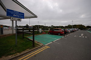 English: Parking area at London Stansted Airpo...